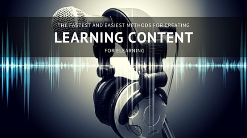 create learning content fast