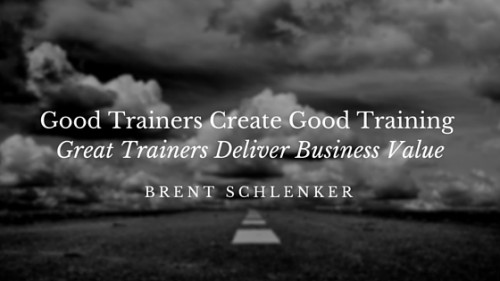 Good Trainers Create Good Training