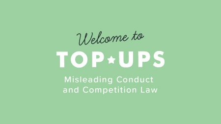 misleading conduct and competition law course australia top up
